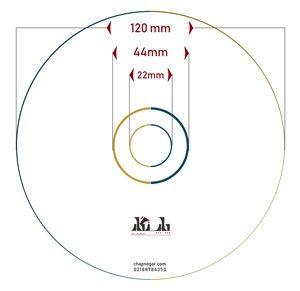 اندازه لیبل سی دی